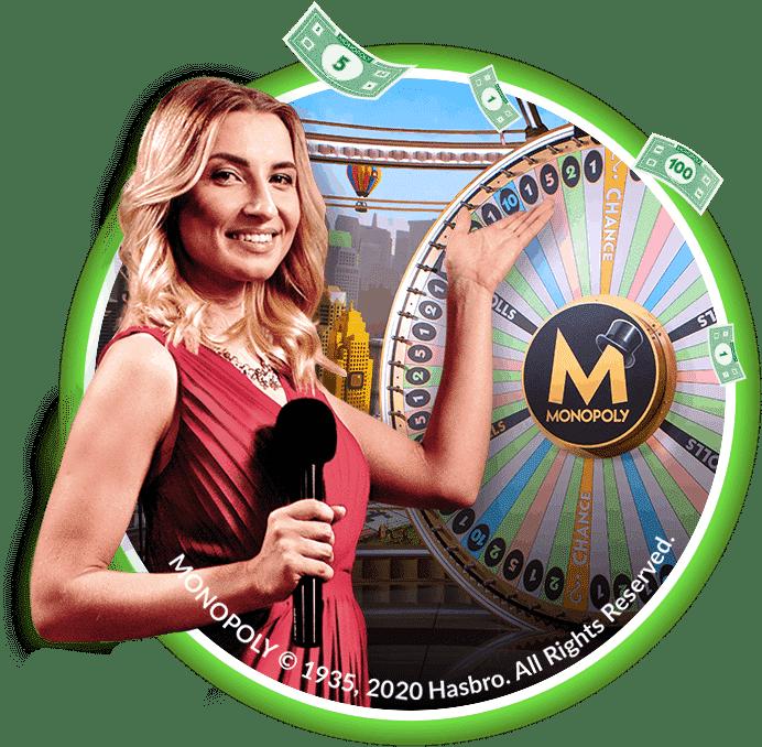 croupier en ligne monopoly live